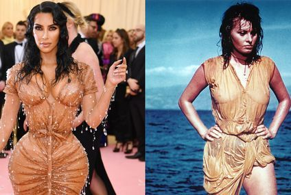 Kim Kardashian Channels Sophia Loren at the Met Gala After Shutting Down Baby Reports