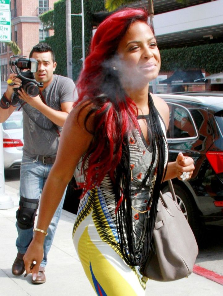 "Miss ""AM to PM,"" Christina Milian, loves a good vape moment."