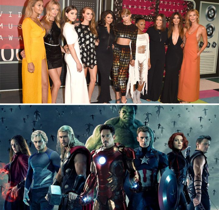When Taylor Swift's squad was formed and basically overpowered any superhero squad: