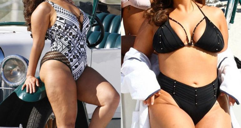 fd4eca1336579 Ashley Graham Used Unedited Paparazzi Pics For Her New Swimsuit Campaign  And People Are Living For it