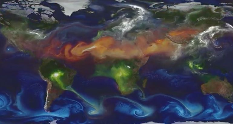 Watch pollution move around the world (video)